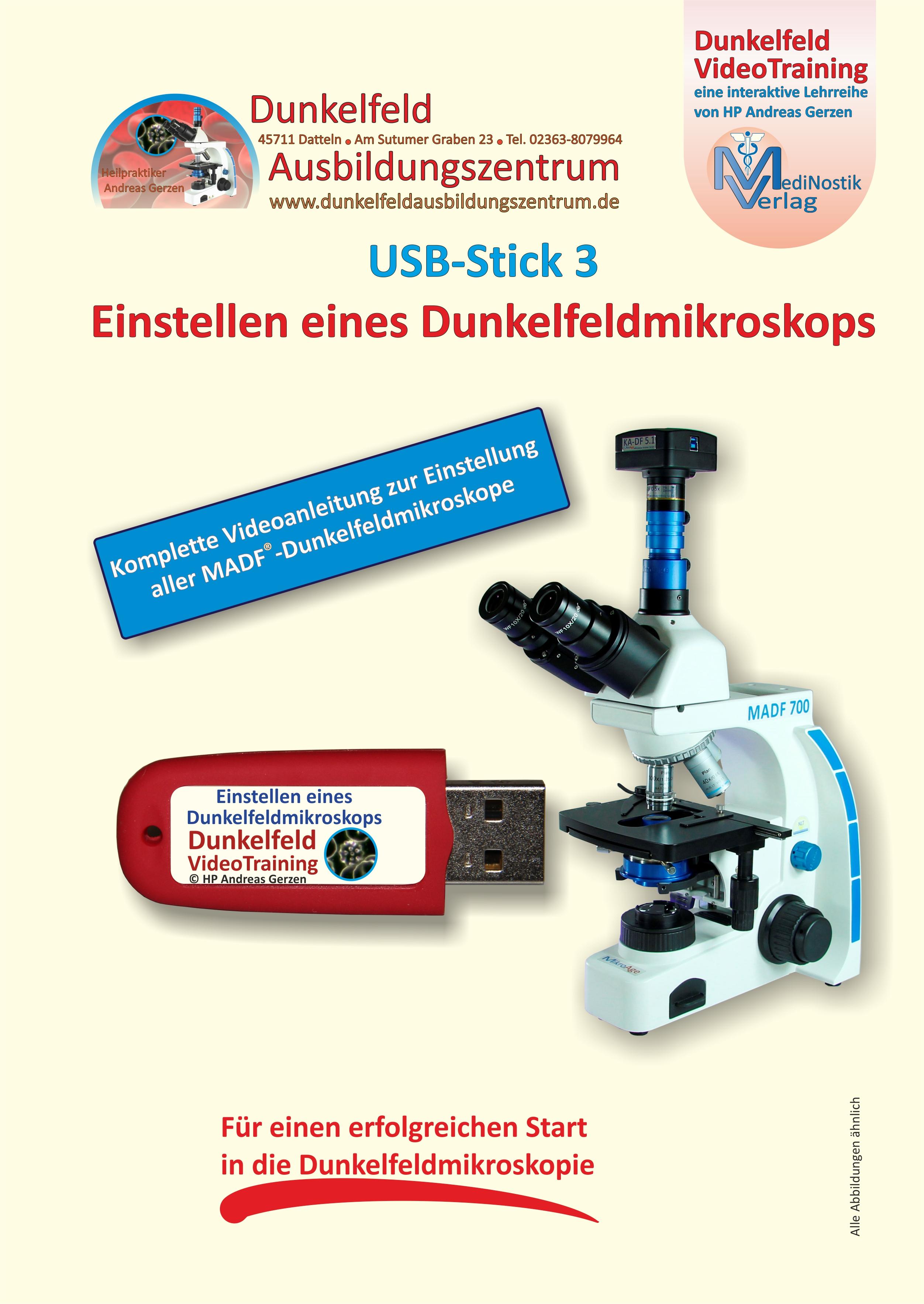 Mikroskopeinstellung Prospekt Seite 1 vorn